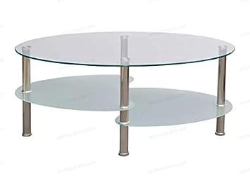 Vidaxl Couches Avec Ronde Étagère Basse Oakome Table 3 Inférieure PkZiuTwOX