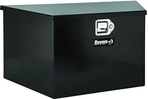 Buyers Products Black Steel Trailer Tongue Truck Box (12x13.25x26/14 Inch) (Tongue Hinge Trailer)