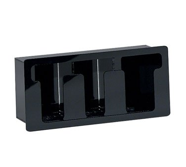 - Dispense Rite Black Acrylic Horizontal Built-in Lid Organizer, 7 1/4 x 16 x 5 3/8 inch - 1 each.