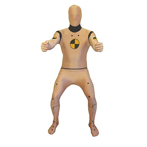 Morphsuits Men's Premium US New, Crash Test Dummy, -