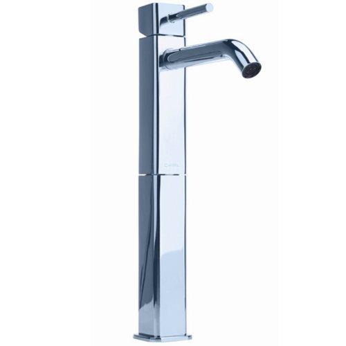Cifial 224.101.625 Techno Quadra 25 Single Handle High Profile Lavatory Faucet, Polished Chrome