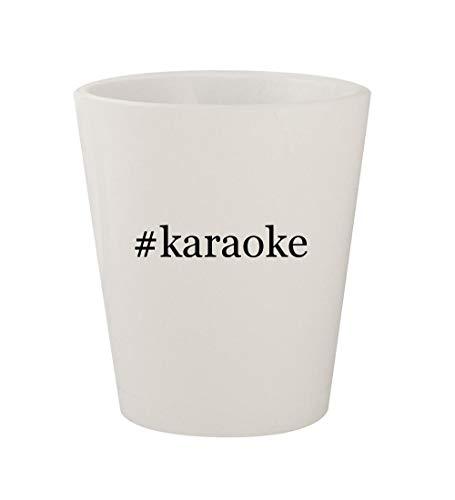 #karaoke - Ceramic White Hashtag 1.5oz Shot Glass