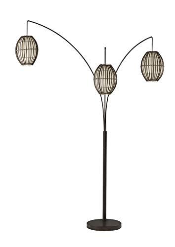 Adesso 4026-26 Maui Arc Lamp, 82 in, 3x60W Incandescent,13 CFL, Antique Bronze, 1 Floor Lamp