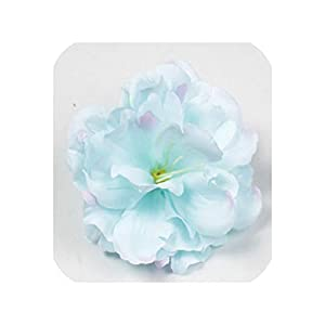 loveinfinite 10PCS 8CM Silk Peony Flower Heads Decorative Scrapbooking Artificial Flower for Home Wedding Birthday Party Decoration Valentine,Lake Blue 117