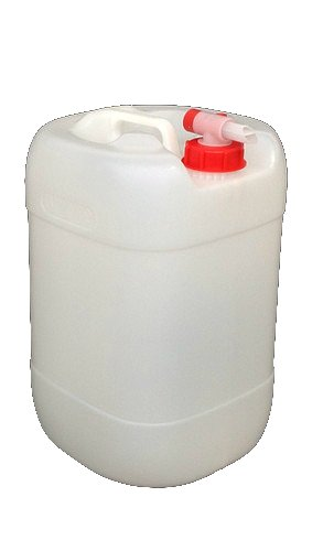 H32 New 25 Litre Plastic Water Container Food Grade with Airflow Tap & Standard Green Cap 25LSRwT