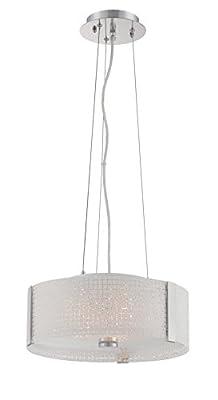 Lite Source LS-19512 Maso Pendant Lamp, Chrome Finish