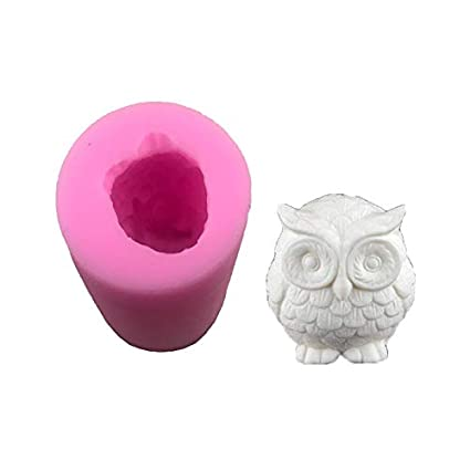 SaveStore 3D Cute Owl Silicone Mold Designer DIY UV Resin Craft Concrete Molds for Plaster Polymer
