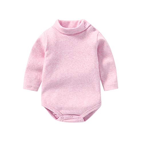 Krastal Baby Boys Girls Clothes Warm High-Neck Jumpsuit Autumn Cotton Long Sleeve Baby Bodysuits