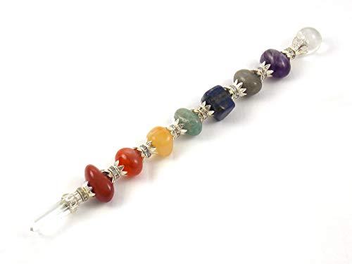 Empyreal Crystal Wand Chakra Wand Healing Wand 7 Chakra Tumbled Wand Reiki Spiritual Gemstone Wand Healing Crystals