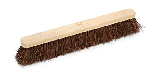 Harper Brush 143612 Broom Head, Palmyra Fiber, Outdoor, Very Rough Surface, Hard Wood, 24'' (Pack of 6) by Harper Brush
