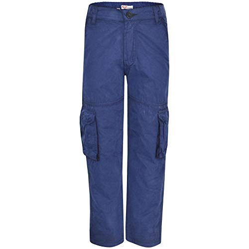 Kids Boys Youth BDU Ranger 6-Pocket Combat Cargo Trousers Fashion Pants 5-13 Yrs Navy
