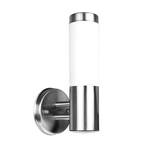 Modern Silver Exterior Sconce - 9