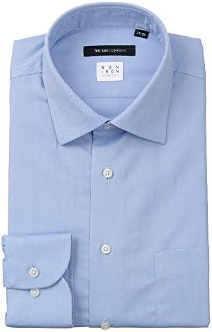 (ザ・スーツカンパニー) NON IRON STRETCH/ワイドカラードレスシャツ 織柄 〔EC・BASIC〕 ブルー