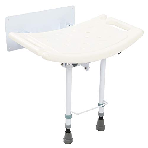 Yinhing Wall Mounted Folding Shower Seat, Ergonomic Shower Chair Bathroom Stool Foldaway Seating Chairs with Non-Slip Legs