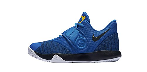 Price comparison product image NIKE Boy's Preschool KD Trey 5 VI Basketball Shoes, Signal Blue/Black-White-Amarillo, 10.5C