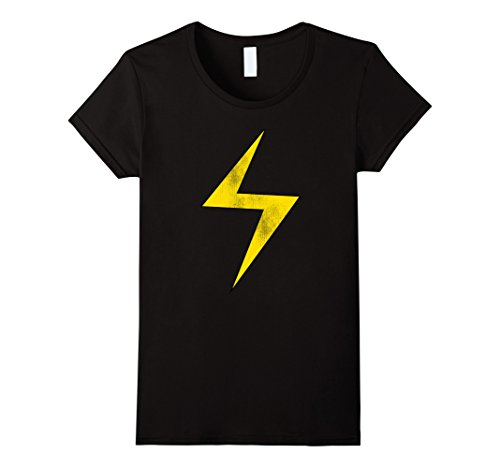 Women's Marvel Lightning Bolt Ms. Marvel Graphic T-Shirt Medium Black