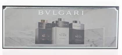 Bvlgari Travel Collection 3 Peice Mini Gift Set for Men, Black Edp Spray, Black Cologne Edt Spray, 3 Count