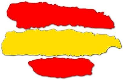 2 unds Pegatina vinilo adhesivo bandera España para cascos coches ...