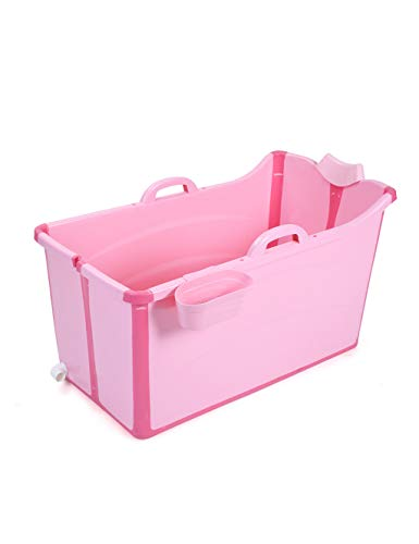 Children's Bathtub | Foldable Baby Bath Tub & Reclining And Multi-purpose Bath Tub - Suitable for Children Aged 0-15 (Color : Pink)
