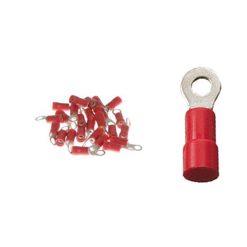 25 Ringkabelschuhe M3 0, 5- 1, 5qmm rot K24 - Kabelschuh
