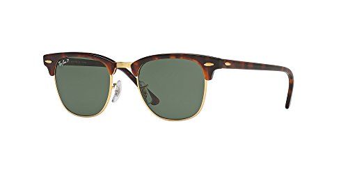 Ray Ban RB3016 990/58 49M Clubmaster Havana/Green - Ray Ban Clubmaster Polarized