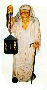 Pequeño fantasma en noche Camisa con farol verkleinert 100cm para exterior de polirresina