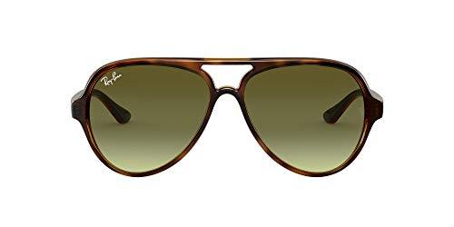 Ray-Ban RB4125 Cats 5000 Aviator Sunglasses, Havana/Green Gradient, 59 mm (Ray Ban Aviator Sonnenbrillen)