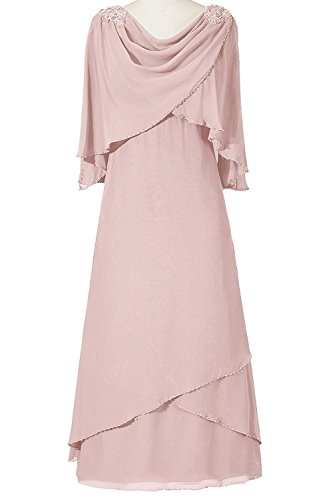 VaniaDress Women Long Evening Dress Formal Gown With Shawl V094LF Blush US24W