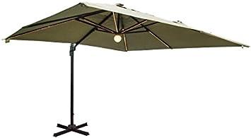 Sombrilla palo lateral MT. 3 x 3 con LED Color Pardo Muebles Jardín Terraza: Amazon.es: Bricolaje y herramientas