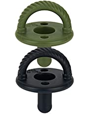 Itzy Ritzy Sweetie Soother Pacifier Set of 2, Camo & Midnight Black