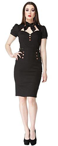Jawbreaker Etuikleid 8103 DRESS Black STEAMPUNK qAqWd6rxRw