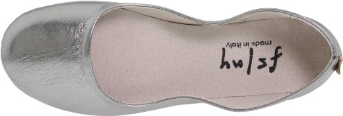 French Sole Fs / Ny Womens Sloop Ballet Flat Peltro Metallic Nappa