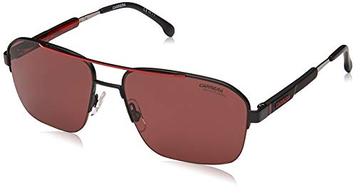 CARRERA SUNGLASSES 8028 S 003 W6 BLACK RED POLARIZED HD LENSES 100% UV PROTECT (Uv-carreras)