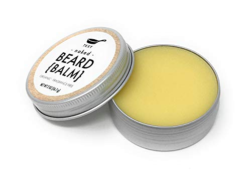 Organic Beard Balm - Naked (Fragrance-Free) (2 oz) - Handmade with All Natural Ingredients