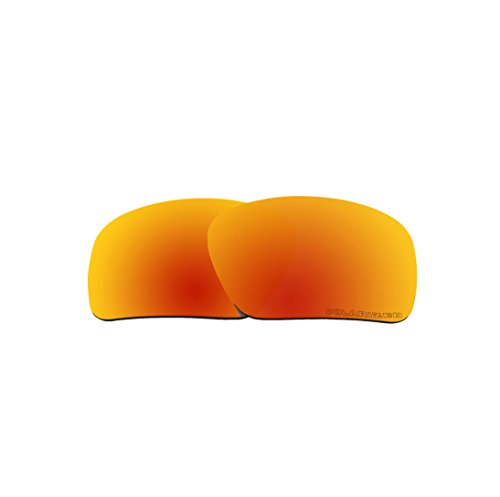 BVANQ Polarized Replacement Lenses Fire Red Mirror for Oakley Triggerman OO9266 - Asian Fit Triggerman