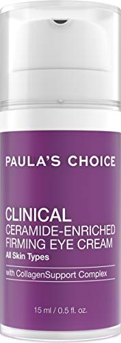 Paula's Choice CLINICAL Ceramide Firming Eye Cream with Vitamin C and Retinol, for Fine Lines, Wrinkles and Loss of - Brightener Skin Vitamin Enriched