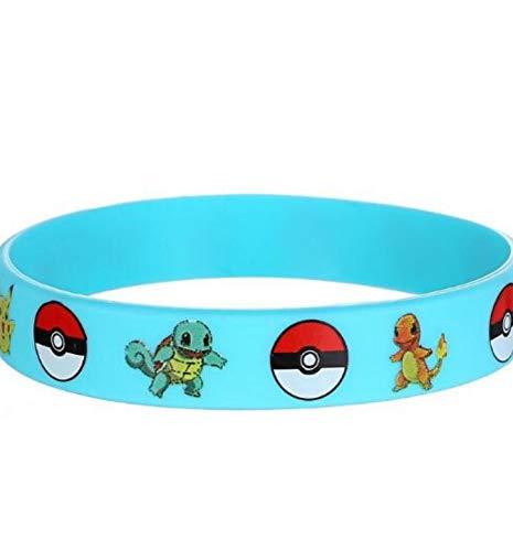 Gift New Trendy Charms Game Wristband Pokemon Pikachu Silicone Bracelet Cartoon Bangles Kids Birthday Party Decoration To C A