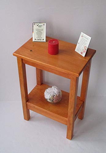 /Side Table/Bedside Table/Narrow Table/Rustic Wood Small Table Colonial Maple Stain ()