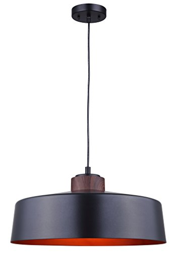 canarm-ted-1-light-cord-pendant-with-metal-shade-and-copper-interior-matte-black-and-faux-wood-finis