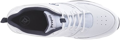 Propet Mens Warner Walking Shoe Bianco / Blu Scuro