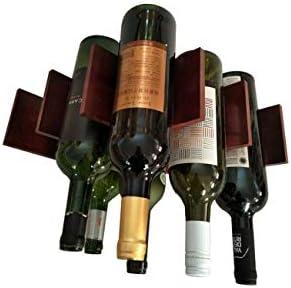TYXQ Estante para Botellas de Vino – Botelleros de Madera para Vino u Otras Bebidas – Vinoteca de Madera para 8 Botellas – Color Vino Tinto