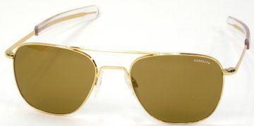 Randolph Aviator Sunglasses 58MM Gold, Bayonet, Tan - Randolph Glasses Sun