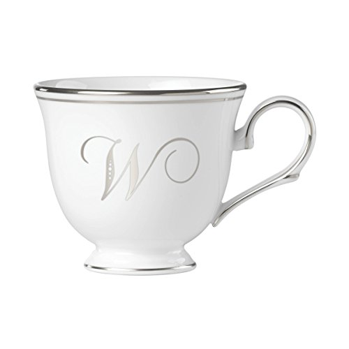 - Lenox Federal Platinum Script Monogram Dinnerware Teacup, W