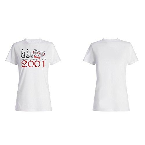 Katzen-Damen sind im Jahr 2001 geboren Damen T-shirt b838f