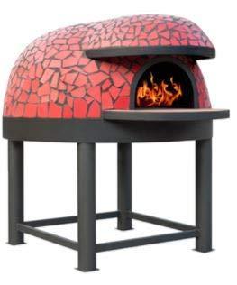 Horno para pizzería de leña capacidad producción 4/5 pizzas diámetro interior 100 cm