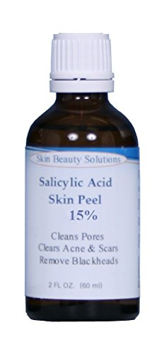 SALICYLIC Acid 10% Chemical Peel with Beta Hydroxy BHA For Rosacea, Acne, Oily Skin, Blackheads, Whiteheads, Clogged Pores, Seborrheic Keratosis & More by Skin Beauty Solutions – 4 oz / 120 ml
