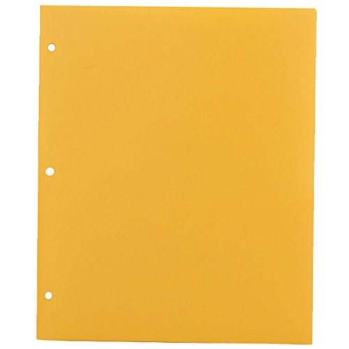 Generic Heavy Duty 3 Hole Punch 2 Pocket Plastic School Presentation Folders by Generic