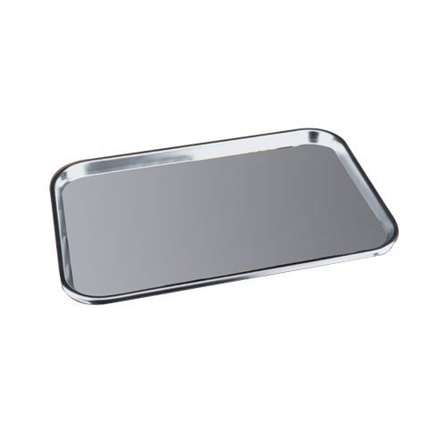 Polar Ware 17F Stainless Steel Serving Tray with Rolled Bead, 17
