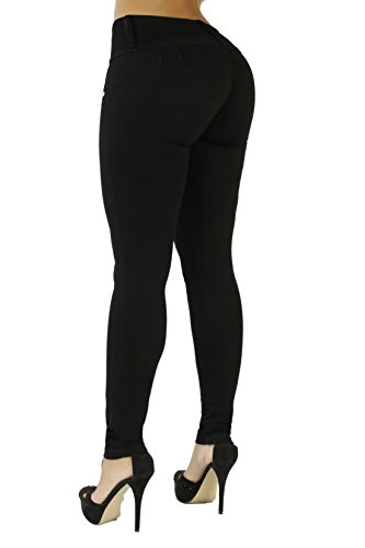 The Slimming Curvify Stretch Jean: a High Waisted Butt Lifting Skinny Jeans for Women (Black, 13, 767)