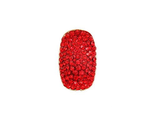 red cocktail ring - 6